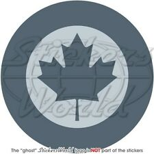 CANADA Canadian Air Force LowVis Aircraft Roundel RCAF 100mm Vinyl Sticker Decal