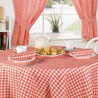 RED PINK GINGHAM CHECK TABLECLOTHS CURTAINS OR ACCESSORIES CHOICE OF 13 ITEMS