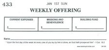 Weekly Full Year Boxed Church Offering Envelopes, Numbered, dated, 3 boxes