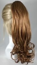 Long Straight Ponytail Hairpiece w/Curled Ends - Riley