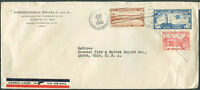 DOMINICAN REPUBLIC TO USA Air Mail Cover 1936 VF