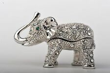 Mini Elephant trinket box - hand made  by Keren Kopal with Austrian crystals