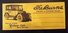 The Burns, Yellow Cab and W & L Service Small Advertising Envelope