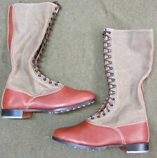WWII GERMAN AFRIKA KORP DAK TROPICAL KNEE HIGH FIELD BOOTS- SIZE 12
