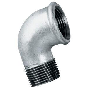 "Galvanised Steel Elbows 90o Male x Female  :  1/4"" to 4"" BSP"