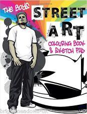 Street Art Adult Colouring Book Graffiti Sketch Pad Paint Spray Creative Urban