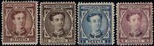 1876.MH.Ed:*177/178,180/181.Alfonso XII.4 Valores de la serie con fijasellos