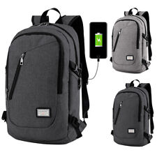 Men's Anti-Theft USB Charging Port Travel Laptop Bags Business School Backpack
