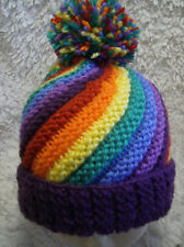 'Rainbow Swirl' Ladies (or child)  Hat - Easy Knitting Pattern