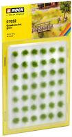 Noch HO 07032-Grasbüschel Mini Set 6 mm, grün, 42 Stück, natürlich wirkend