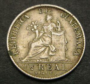 GUATEMALA 1/2 Real 1900 - Copper/Nickel - VF - 400