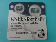 Beer Coaster <> THREE (3) Television Sports Network <> World Cup Football Match
