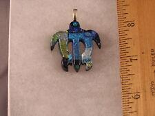Sea Turtle LaserJet Cut Glass Pendant PT01 Blue Green Turtle