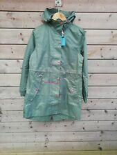 Joules Go Lightly Raincoat - Plain Laurel - Women's UK 8 - New / Repaired
