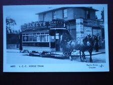 POSTCARD L.C.C. HORSE TRAM