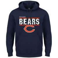 Chicago Bears Majestic NFL Flex Team Hoodie Jumper - Navy