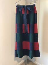 Vintage Nwt Mr. Hanks Maxi Long Skirt Patchwork Wool Tartan Small S Holiday
