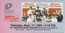 NASCAR 1994 SplitFire Spark Plug 200 Dover Downs Ticket Stub - Johnny Benson Win