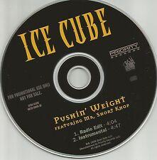 ICE CUBE w/ MR. SHORT KHOP Pushin Weight EDIT & INSTRUMENTAL PROMO DJ CD Single