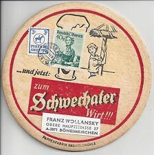 Bierdeckel Schwechater Bier mit PIATNIK Kinderpost + 40 Gr. Trachten Mischfr.
