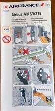 AIR FRANCE - (SKYTEAM) - AIRBUS A318-319 03/2009 - SAFETY CARD - CONSIGNES