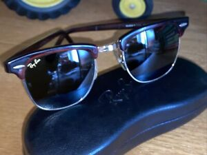 Vintage Ray Ban USA Bausch & Lomb W0366 B&L Tortoise Clubmaster Club Master 90s