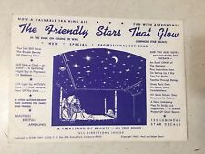 Vintage 1962 Space Age Glow In The Dark Stars New Old Stock Mid Century