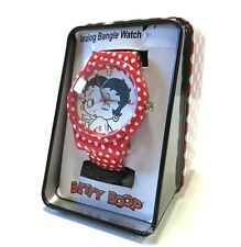 New BETTY BOOP Polka Dot Analog Bangle Wrist Watch NEW IN CONTAINER