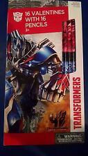 Transformer Valentine 16 Cards with 16 Pencils New 2015