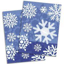 50 Christmas Party Winter Snowflakes Blue Plastic Cellophane Favour Treat Bags