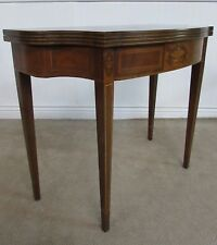 VINTAGE BAKER FLIP TOP GAME TABLE, EXPANDABLE TABLE, HALL CONSOLE