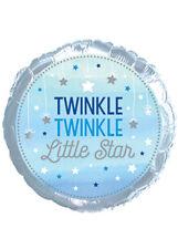 Blue Twinkle Twinkle Little Star 1st Birthday Helium Balloon