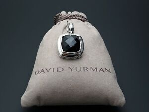 David Yurman Sterling Silver Albion Pendant 17mm Black Onyx (No Chain)