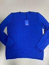 Conleys Blue ~ Pullover Uomo Strutturato Blu - Nuovo Tg. L 16F