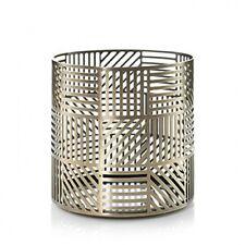 Yankee Candle Crosshatch Brass Jar Holder