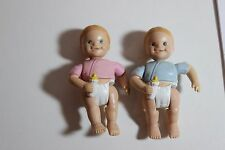 Fisher Price Family Twin time Doll House Replacement Babies Figures Boy Girl Lot