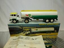 DINKY TOYS 887 UNIC TRACTOR + TANKER AIR BP - WHITE GREEN 1:43? - GOOD IN BOX