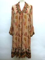 Zara Boho Floral Dress Embroidered Beaded Size S M