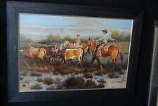 "Original Oil Painting    "" HEADING HOME I "" Framed by Adams"