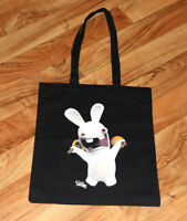 Raving Rabbids Ubisoft Xbox 360 PS3 Rare Promo Fabric Carrying Bag Gamescom