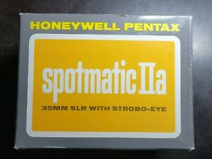 Honeywell Pentax Spotmatic IIA  35MM Film with Case in Box, Strobe Eye