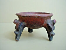 Pre-Columbian Painted Earthenware Terra Cotta Pot on Tripod Legs