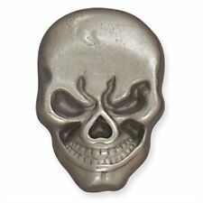 Skull Line 24 Snap Nickel Plate w/Black Tandy Leather 1265-01
