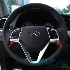 FIT FOR 2016 HYUNDAI TUCSON CHROME STEERING WHEEL PANEL COVER BADGE INSERT TRIM