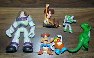 Toy Story Bundle Mini Figures Small Figurines Collectable X6