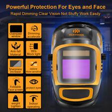 Large View Auto Darkening TIG/MIG/ARC Welding Helmet True Color Welder Mask Hood