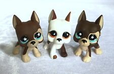 Littlest Pet Shop dog LPS Figure Toys Great Dane Dogs lot of 3
