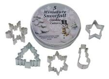 Christmas Mini Snowfall Assorted Shapes Cookie Cutter Set of 5 In Tin