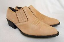 MAIN WOODS TAN LEATHER SHOE ANKLE BOOT, SIZE 8 1/2 M, IN EXCELLENT CONDITION!!**