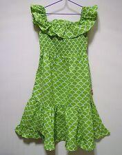 Girls Boho Beach Green Sunshine Dress Size 5 100% Cotton by Oobi New with Tags